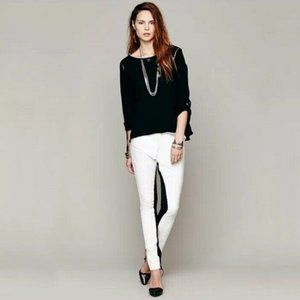 NWT One Teaspoon Bowie White Leather Pants M/10